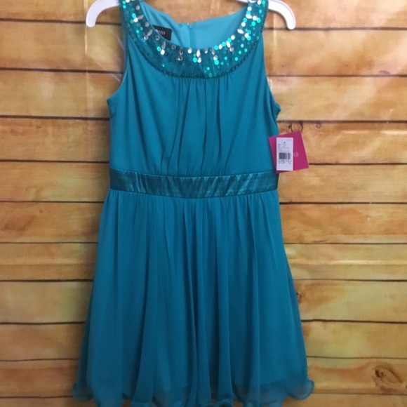 Amy Byer Other - Amy Byer size 12. NWT teal dress